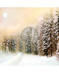 Heavy Snowfall Computer Printed Photography Backdrop ZJZ-906