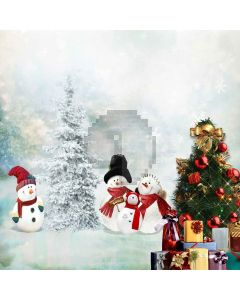 Outdoor Christmas Tree Computer Printed Photography Backdrop ZJZ-914
