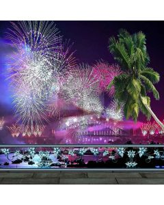 Spectacular Fireworks Computer Printed Photography Backdrop ZJZ-919