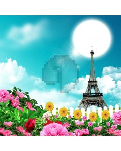 Eiffel Tower  Computer Printed Photography Backdrop ZJZ-981