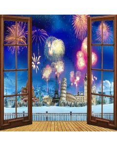 Magnificent Fireworks Computer Printed Photography Backdrop ZJZ-988