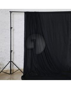 Black Solid Color Pure Cotton Fabric Chromakey Backdrop