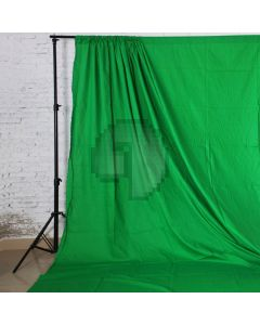 Green Solid Color Pure Cotton Fabric Chromakey Backdrop