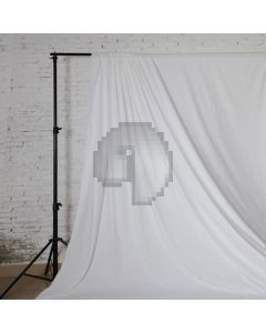 White Solid Color Pure Cotton Fabric Chromakey Backdrop