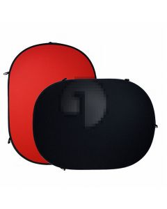 Red and Black 2 in 1 Portable Foldable Background Board Pure Cotton Fabric Chroma-Key Backdrop