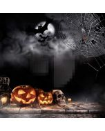 Halloween Pumpkin Computer Printed Photography Backdrop ABD-528