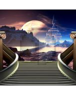 Stairs Castle Moon Mountain Computer Printed Photography Backdrop ABD-801