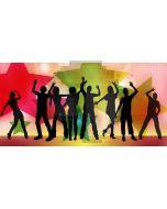 People Star Computer Printed Dance Recital Scenic Backdrop ACP-1080