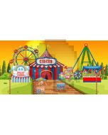Circus Windmill Computer Printed Dance Recital Scenic Backdrop ACP-1275