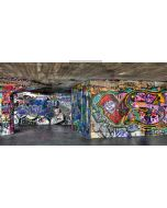 clown graffiti wall Computer Printed Dance Recital Scenic Backdrop ACP-001