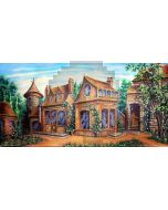 The rich house Computer Printed Dance Recital Scenic Backdrop ACP-404
