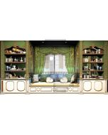 Bookshelf Curtain Sofa Bolster Computer Printed Dance Recital Scenic Backdrop ACP-542
