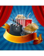 Curtain Movie Computer Printed Photography Backdrop AUT-452