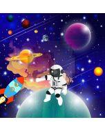 Astronaut Star Rocket Computer Printed Photography Backdrop AUT-552