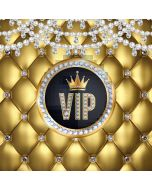 Crown Circle Gold Computer Printed Photography Backdrop AUT-564