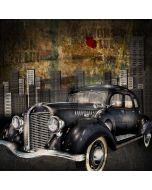 Car Building Graffiti Computer Printed Photography Backdrop AUT-574