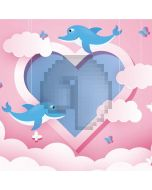 Heart Dolphin Computer Printed Photography Backdrop AUT-577