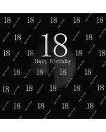 Birthday Black Computer Printed Photography Backdrop AUT-692