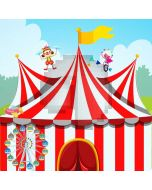Circus Flag Clown Computer Printed Photography Backdrop AUT-705