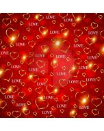 Red Heart Computer Printed Photography Backdrop AUT-737