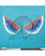 Wing Blue Brick Computer Printed Photography Backdrop AUT-933