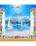 Stunning Sea Views Computer Printed Photography Backdrop DGX-385