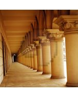 Stone pillars long corridor Computer Printed Photography Backdrop DT-12-81