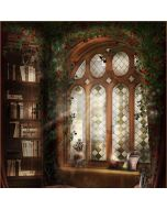 Bookcase With Window  Computer Printed Photography Backdrop DT-LP-0078