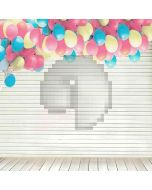 Balloon With Wood  Computer Printed Photography Backdrop DT-LP-0234