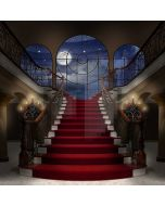 Stairs Window Moon Candle Computer Printed Photography Backdrop DTU-356