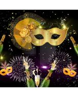 Mask Fur Flower Beer Firework Computer Printed Photography Backdrop HXB-067