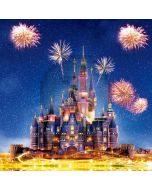 Castle Firework Night Sky Computer Printed Photography Backdrop HXB-077