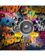 Graffiti Music Boom Microphone Computer Printed Photography Backdrop HXB-187