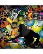 Graffiti Bubble Star Microphone Letter Computer Printed Photography Backdrop HXB-188