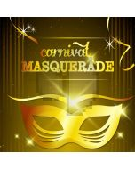 Carnival Masquerade Gold Mask Computer Printed Photography Backdrop HXB-195