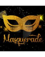 Masquerade Mask Gold Computer Printed Photography Backdrop HXB-198