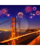 Firework Bridge River Light Computer Printed Photography Backdrop HXB-787
