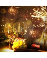 Firework Wine Glass Light Computer Printed Photography Backdrop HXB-847