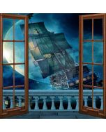 Sailing With Window Computer Printed Photography Backdrop LMG-042
