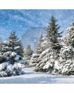 Snowy Forest Computer Printed Photography Backdrop LMG-111