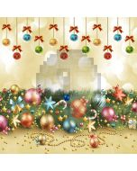 Colorful Christmas Balls Computer Printed Photography Backdrop LMG-196