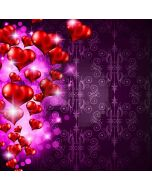 Romantic Heart Shape Computer Printed Photography Backdrop LMG-388