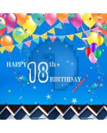 Birthday Party Flags And Balloons Computer Printed Photography Backdrop MSL-406