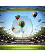 Sports Hot Air Balloon Sky Audience Computer Printed Photography Backdrop MSL-423