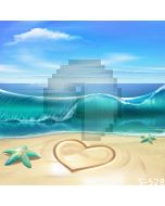 Lovely Beach Computer Printed Photography Backdrop S-528