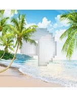 Tropical Beach Computer Printed Photography Backdrop S-539