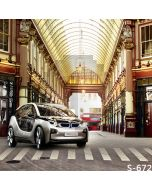 Luxuriant Streetscape Computer Printed Photography Backdrop S-672