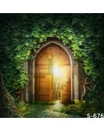 Mysterious Door Computer Printed Photography Backdrop S-676