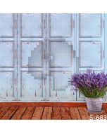 Mottled Wood Wall Computer Printed Photography Backdrop S-683