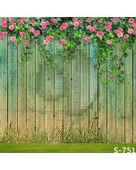 Wood Fence Wall Computer Printed Photography Backdrop S-751